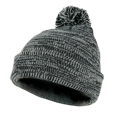 c8742315a6c VINTAGE STRIPED ACRYLIC Winter Beanie Hat with Removable Pom ...