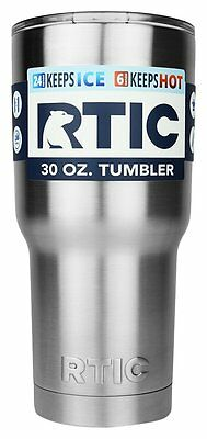 RTIC 30 Oz Stainless Steel Tumbler Cup, Exclusive Splash Proof Lid Hot or Cold