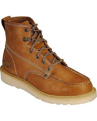165a4ac1a71 New Dickies Trader Wedge Bottom Work Boots Tan Iron Worker Shoes - DW7318TAN