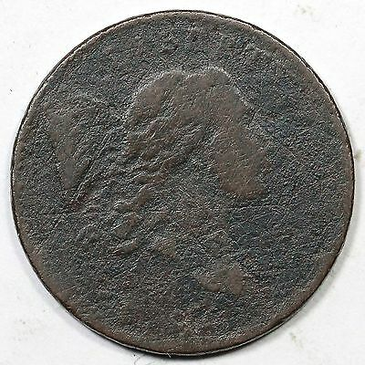1794 C-1 Lettered Edge Liberty Cap Half Cent Coin 1/2c
