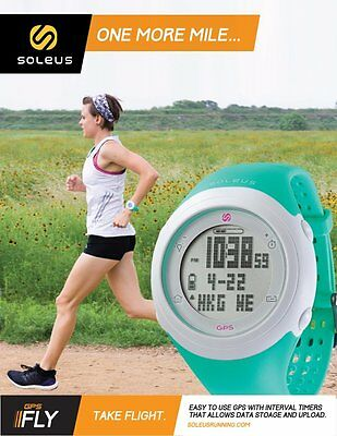 Soleus GPS FLY Running Digital Watch Speed Distance Pace Calorie Counter Lap Run