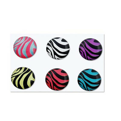 6 Pieces Zebra Patterns Home Button Sticker for Apple iPhone 4S F6