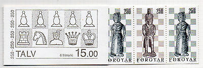 FAROE ISLANDS = 1983 Chess Pieces. set/2 x 3 in Booklet. Mint Hinged on page.