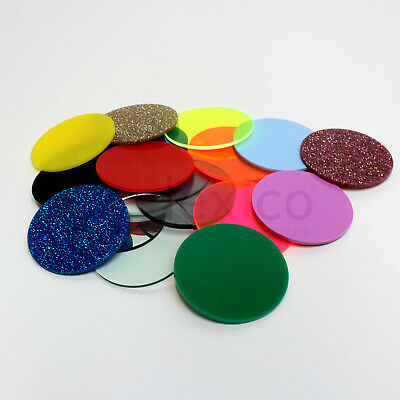 Plastic Circles / Laser Cut Acrylic Disc - ALL SIZES FREE CUSTOM SIZE CUT