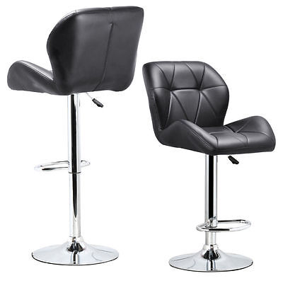 Set of 2 Adjustable Swivel Bar Stool PU Leather Hydraulic lift Dinning chair BT