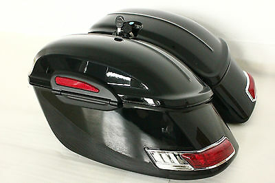 RS Motorcycle Hard Saddlebags fits for ROAD STAR VTX C90 VULCAN Shadow 650 1100