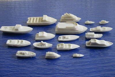 DS01 17pcs Resin Model Railway boats ships craft  HO N