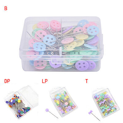 100X Patchwork Pins Flower Button Head Pins Quilting Tool Sewing Accessories  IO