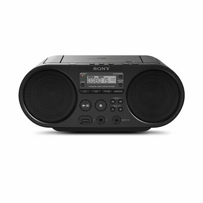 SONY ZSPS50 CD Boombox with AM/FM Digital Radio Tuner and USB Playback (Seconds)