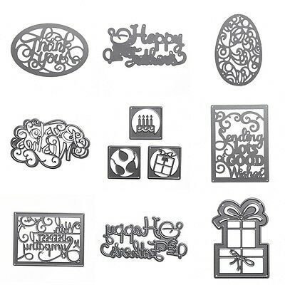 Multi Shape Cutting Dies Stencil Scrapbook Album Paper Card Embossing Craft New