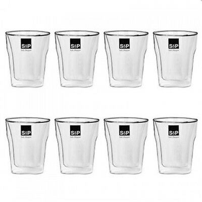 Salt&Pepper- Barista Double Wall Thermo Expresso Glasses set 8 75ml