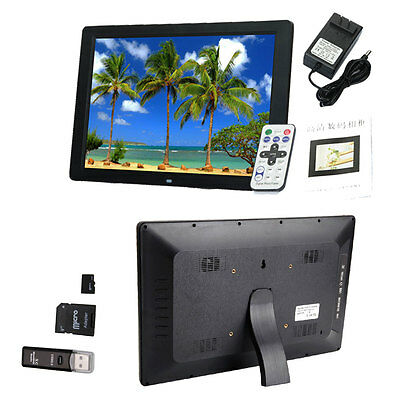 """15"""" HD LED Digital Picture Frame Album Electronic Photo Frame +2GB TF Card"""