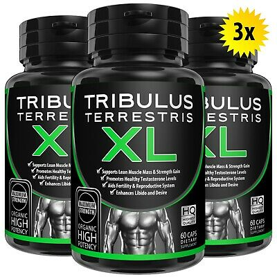 120 TRIBULUS TERRESTRIS 7500mg EXTRACT CAPSULES 96% SAPONINS BOOST TESTOSTERONE