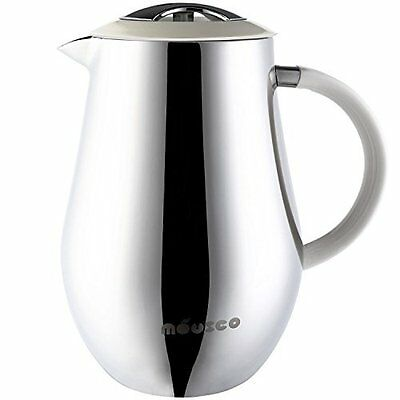 Miusco 18/8 Stainless Steel Insulated Double Wall French Press Coffee Tea & 1 34