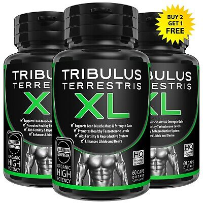 60 TRIBULUS TERRESTRIS CAPSULES 7500mg EXTRACT 96% SAPONINS BOOST TESTOSTERONE