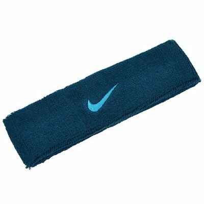 NIKE Swoosh Headband / One Size , Green x Blue Swoosh