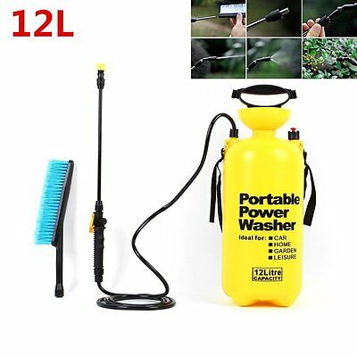 12L Portable Pressure Power Washer Pump Car Jet Garden Sprayer +Lance Wash Brush