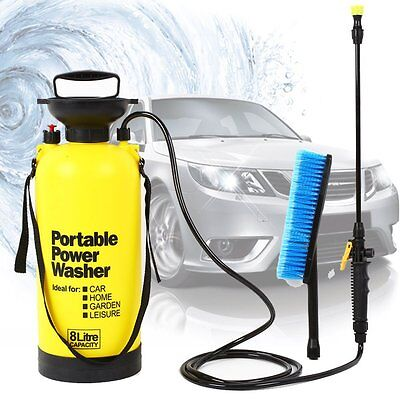10L Portable Pressure Washer Cleaner Power Pump Car Jet Wash W/ Brush Hose Lance