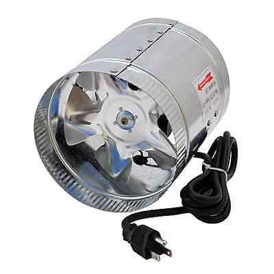 Air Duct Inline Hydroponic 6-Inch 240 CFM Booster Fan Air Cooler Ventilator, New