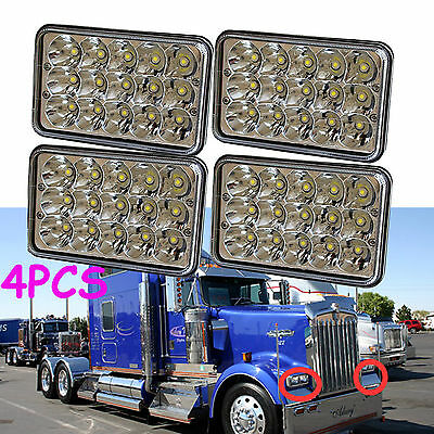 4Pcs LED Headlights Bulb For Kenworth T800 T400 T600 W900B W900LClassic 120/132