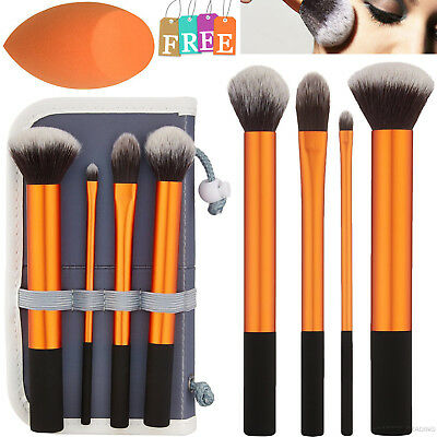 4Pcs Cosmetic Makeup Brushes Real Technique Core collection Contour Foundation