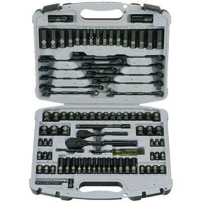 Stanley 92-839 99-Piece Quick-Release Anti-Corrosion Black Chrome Socket Set New