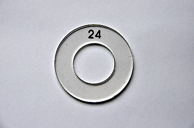 Transparent Self Cover Button Template - Size 24 (15mm)