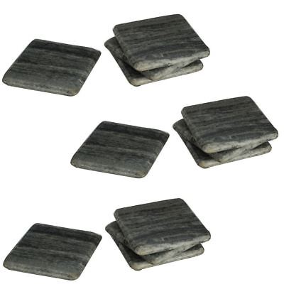 Set Of Square Grey Marble Coasters Drink Dinner Coffee Table Mats Placemats