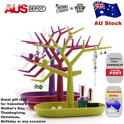Jewelry Necklace Ring Earring Tree Stand Display Organizer Holder Rack hot GT