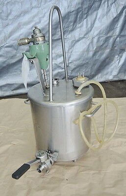 5 Gallon Stainless Steel Tank With Air Mixer, Sanitary