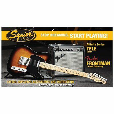 Squier Affinity Tele & Fender Frontman 15G Amp Electric Guitar Package Sunburst
