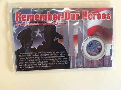 Remember Our Heroes - Special Commemorative USA Coin - 2001 - 11 September 9-11