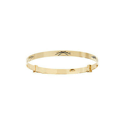 9ct Yellow Gold Baby/Childs  Expandable Bangle