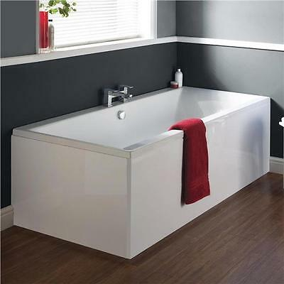 Designer Asselby Double Ended Acrylic White Bathtub Bathroom Acrylic Bath Panels
