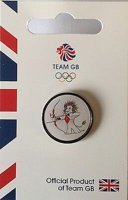 Official Team Gb Mascot Pictogram Archery Limited Edition Olympic Pin