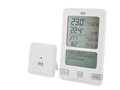 BIOS Wireless In/Outdoor Thermometer With Digital Display (French/English). NEW.
