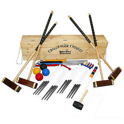 Challenger full size croquet set in a box competition style croquet set