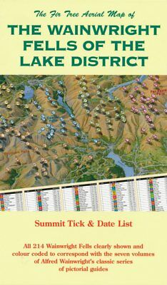 Lake District Fells Map - The Wainwright Fells Of The Lake District. Folded Map