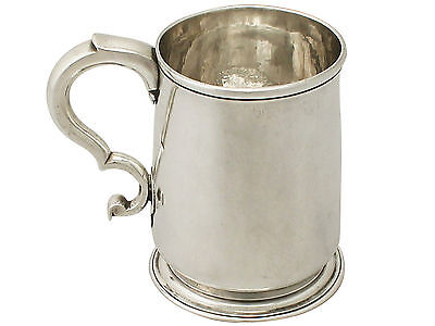 Antique Sterling Silver Pint Mug by Paul de Lamerie - George II