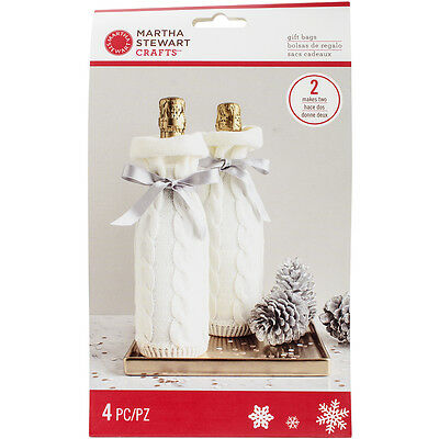 Knit Wine Bags 2/Pkg Winter Frost M4830419