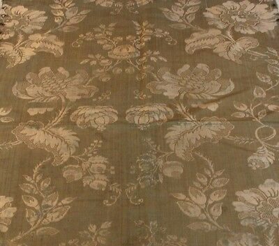 "Antique 18thC (c1700) French Silk Home Textile Fabric~25""L X 17""W"