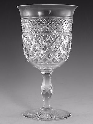 """Thomas WEBB Crystal - RUSSELL Cut - Water Goblet Glass / Glasses - 6 1/4"""" (2nd)"""