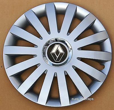 """Silver 14"""" wheel trims, Hub Caps, Covers to fit Renault Clio(Quantity 4 )"""