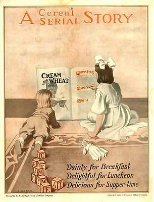 Cream of Wheat - A Cereal Story - by E. B. Bird - Original Advertisement - 1910