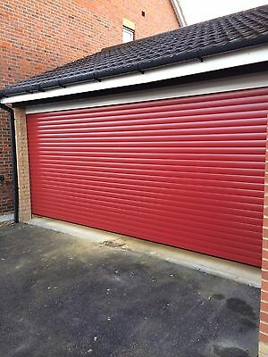 Double electric roller Garage Door Insulated Uk Manufactured 2 Remotes 4267mm