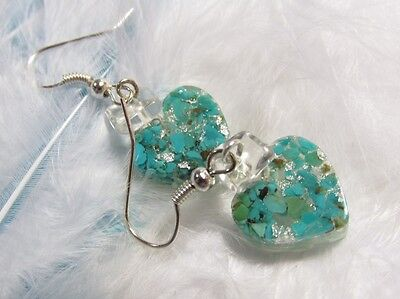 ORGONE EARRINGS - genuine turqouise - Joy - Protection - Wealth