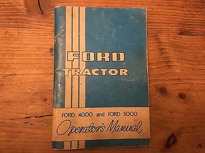 Original FORD Operators Manual for Ford 4000 & Ford 5000 Tractors English Text