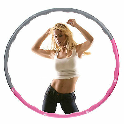 New Hula Hoop Fitness Exercise Abs Workout Gym Professional Weighted Pink & Grey