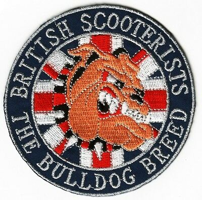 British Scooterists The Bulldog Breed Sew On Patch