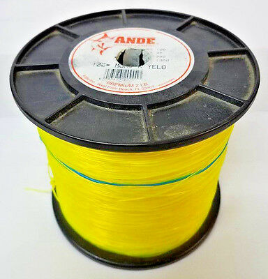 Ande 100Lb Yellow Monofilament Fishing Line - 2Lb Spool/1000Yds